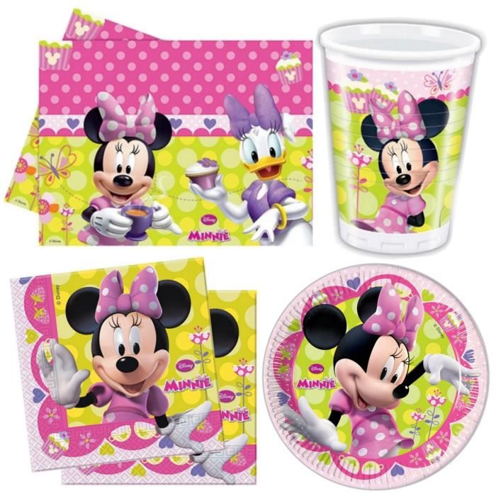 kit d coration anniversaire minnie pour 8 entans 2009965481754 achat vente kit de decoration. Black Bedroom Furniture Sets. Home Design Ideas