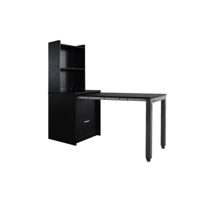 etag re commode bureau noir malin achat vente bureau etag re commode bureau malin cdiscount. Black Bedroom Furniture Sets. Home Design Ideas