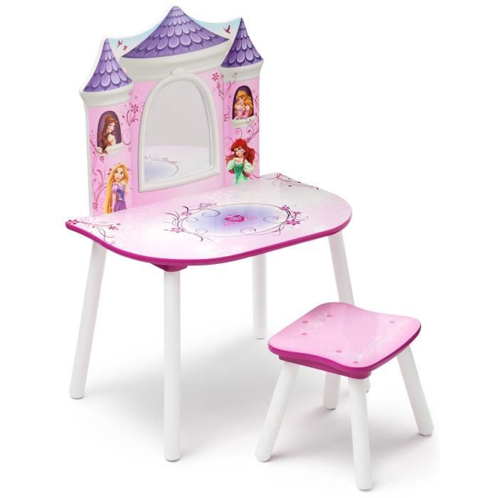 disney princesses coiffeuse enfant et chaise achat vente coiffeur esth tique cdiscount. Black Bedroom Furniture Sets. Home Design Ideas