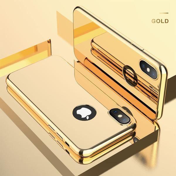 coque integrale pour apple iphone x xs miroir or