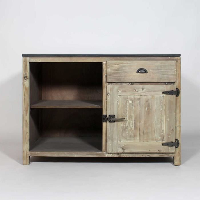 meuble cuisine avec rangements en bois recycl jc15 achat vente element. Black Bedroom Furniture Sets. Home Design Ideas