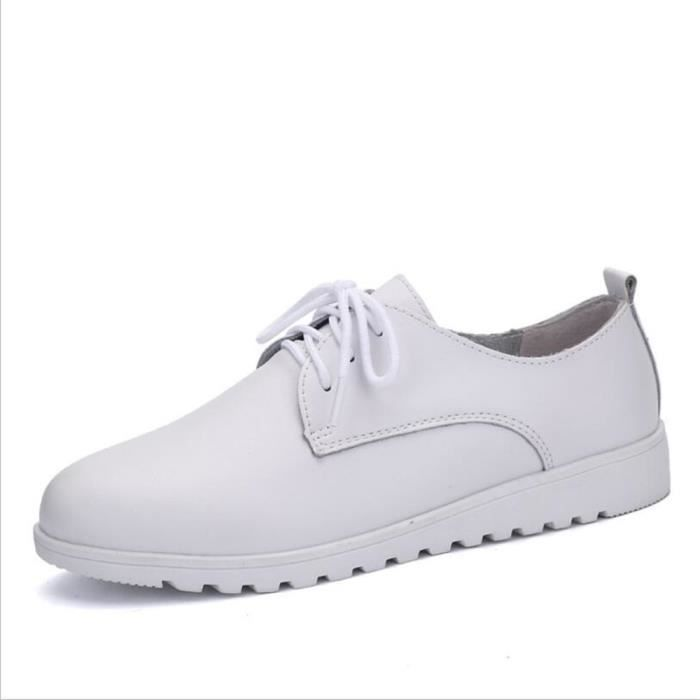 Chaussures Femmes Cuir Occasionnelles Comfortable Chaussure XX-XZ042Blanc35