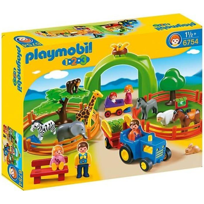playmobil 1 2 3 6754 coffret zoo achat vente univers. Black Bedroom Furniture Sets. Home Design Ideas