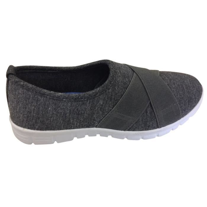 Cross Elastic Strap Stretch Slip-on Comfort Sneaker KQNDS Taille-37 1-2