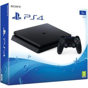 CONSOLE PS4 Nouvelle PS4 Slim Noire 1 To