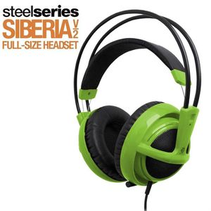 CASQUE  - MICROPHONE Steelseries Siberia v2 Green