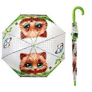 PARAPLUIE Parapluie BEGSP 3D animaux s-Chat de fleur de papi