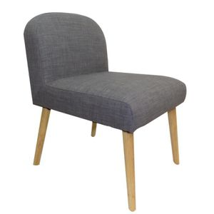 CHAISE Chaise en toile effet lin Oslo Lin