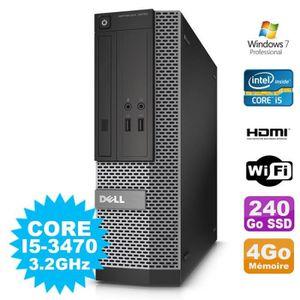 UNITÉ CENTRALE + ÉCRAN PC DELL Optiplex 3010 SFF Intel I5-3470 DVD 4Go 24