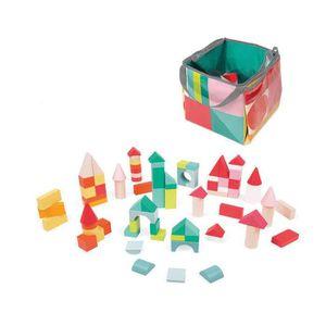 CUBE ÉVEIL JANOD Jeux de construction 80 cubes en bois