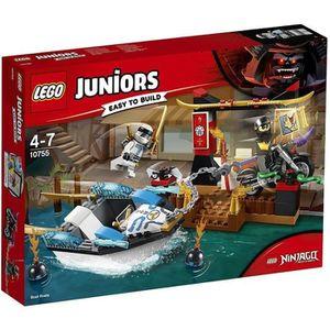 ASSEMBLAGE CONSTRUCTION LEGO® Juniors NINJAGO 10755 La poursuite en bateau