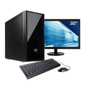 UNITÉ CENTRALE + ÉCRAN Pack PC Bureautique Pro, Intel i7, 500Go SSD NVMe