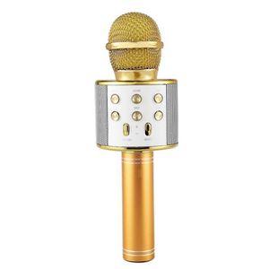 MICROPHONE - ACCESSOIRE Microphone de karaoke sans fil portable Bluetooth