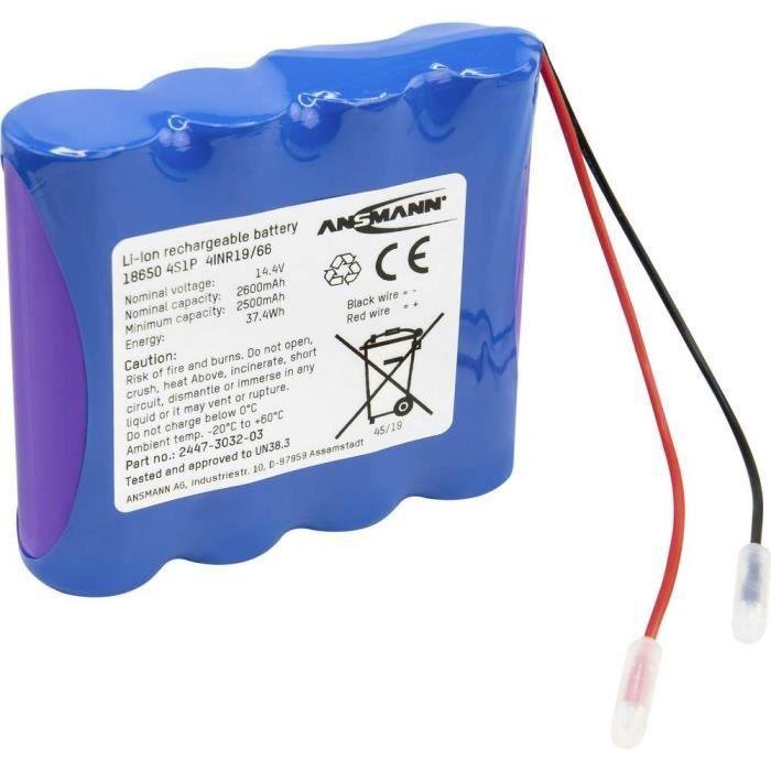 Pack de piles rechargeables 4x 18650 Li-Ion Ansmann 2447-3032-03 14.4 V 2600 mAh - OUTIL MODELISME - ACCESSOIRE MODELISME - PIECE