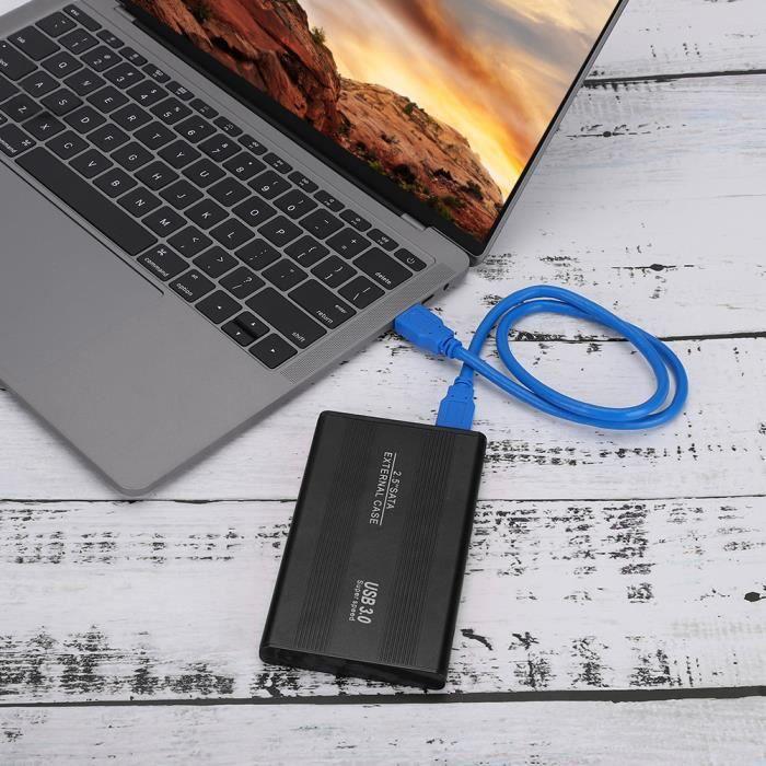 2.5 pouces H 1 Usb 3.0 Disque dur portable brossé ordinateur portable en métal (500 Go. noir)