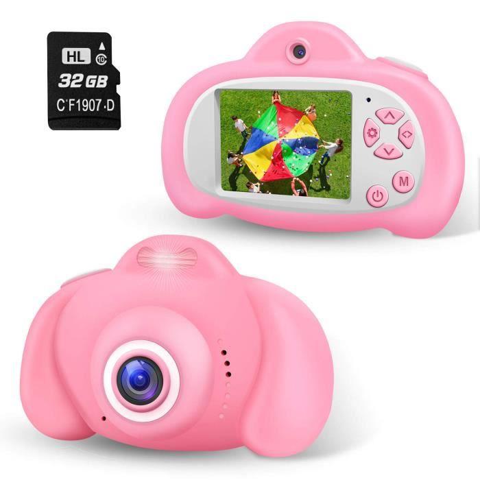 Appareil Photo Enfant Numérique Caméra pour Enfant, 2.0 Pouces Appareil Photo Numérique 8 Mpixels, Flash, 32Go SD Carte