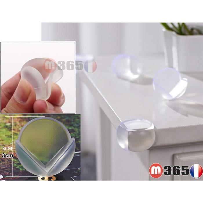 Lot de 10 protection d'angle Table Protège Coins Meuble Protecteur Angle Pare-Choc