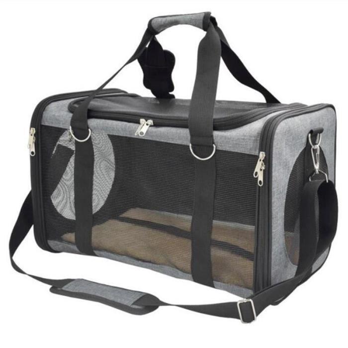 Sac de transport,Sac de transport pour chiens de compagnie Sac à main Portable pour petits chats, sac de voyage - Type 47x28x27cm #C