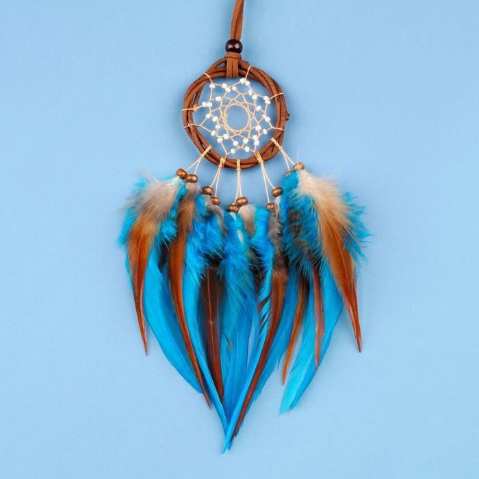 CARILLON A VENT - CARILLON EOLIEN,MIAMOR collier en rotin pour femmes - Type blue