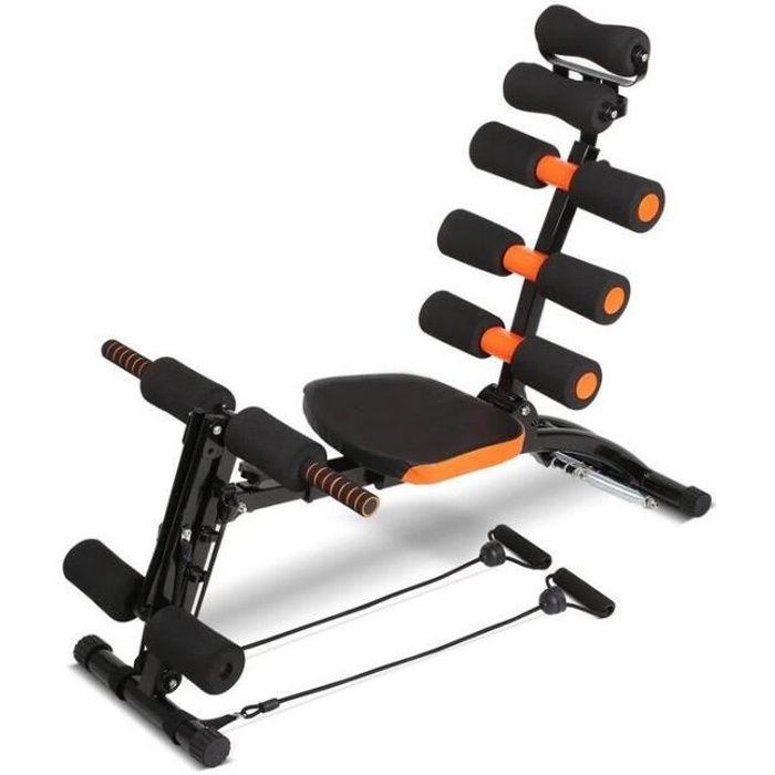 [Yezoos] Appareil de musculation pour abdominaux - AB Celerate - Banc de musculation - Chaise d'exercice réglable - orange/noir