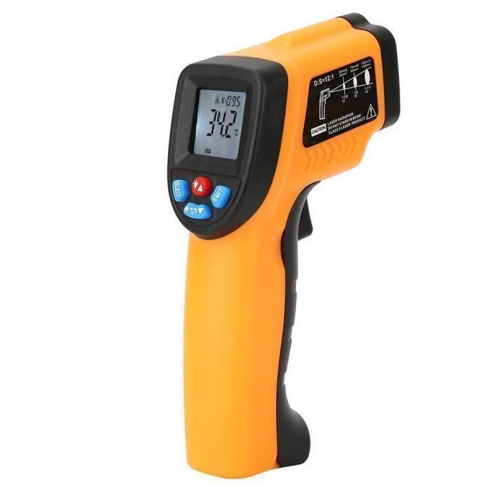 SH@Thermomètre pour enfant infrarouge à affichage à cristaux liquides Thermomètre laser sans contact  -XIN