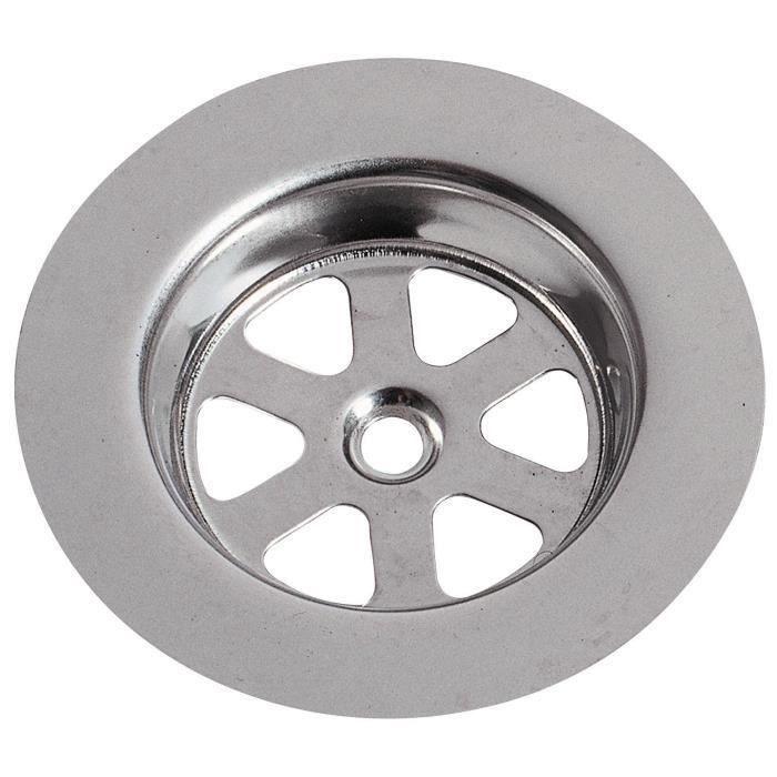 WIRQUIN Grille ronde creuse SP9236 - Inox - Ø 80 mm - Évier en grès (Lot de 3)