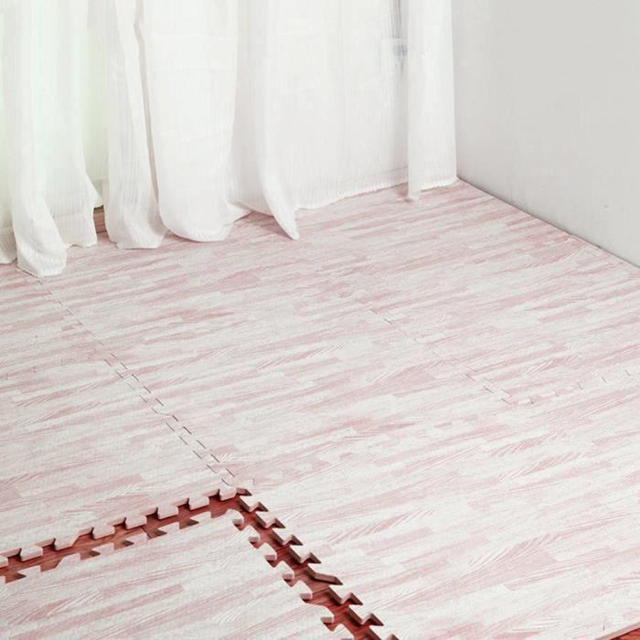 Tapis de jeu en mousse EVA, sol souple à grain blanc doux facile à utiliser, tapis de jeu en mousse EVA pour enfants, pour le yoga