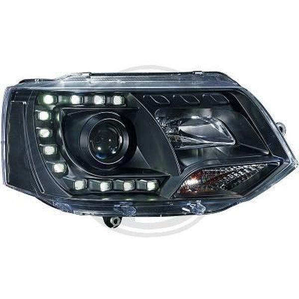 Paire de feux phares VW T5 09-15 Daylight led noir (785)