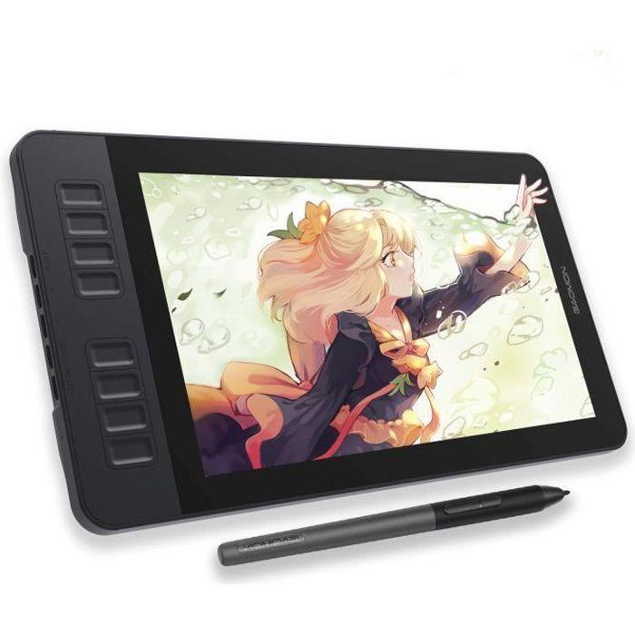GAOMON PD1161 11,6- Tablette Graphique IPS HD Moniteur Dessin avec 8 Touches de Raccourcis et Stylet sans Pile 8192 Niveaux