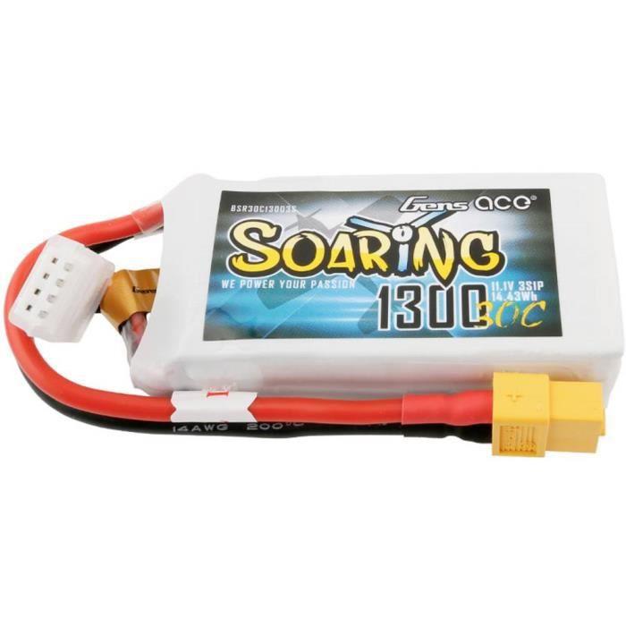 Pack de batterie (LiPo) 11.1 V 1300 mAh Gens ace BSR30C13003S Nombre de cellules: 3 30 C Softcase XT60 1 pc(s)