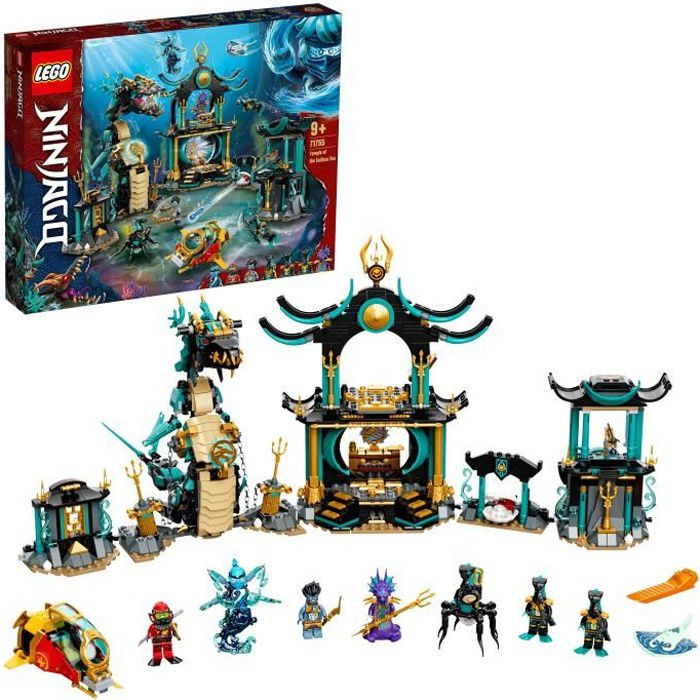LEGO® 71755 NINJAGO® Le temple de la Mer sans fin avec Ninja Kai – Jouet Enfant 9 ans et plus