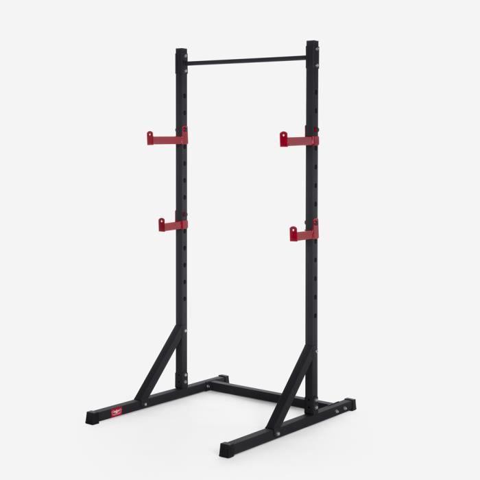 Support de squat d'haltères réglable avec barre de traction cross training Asahi