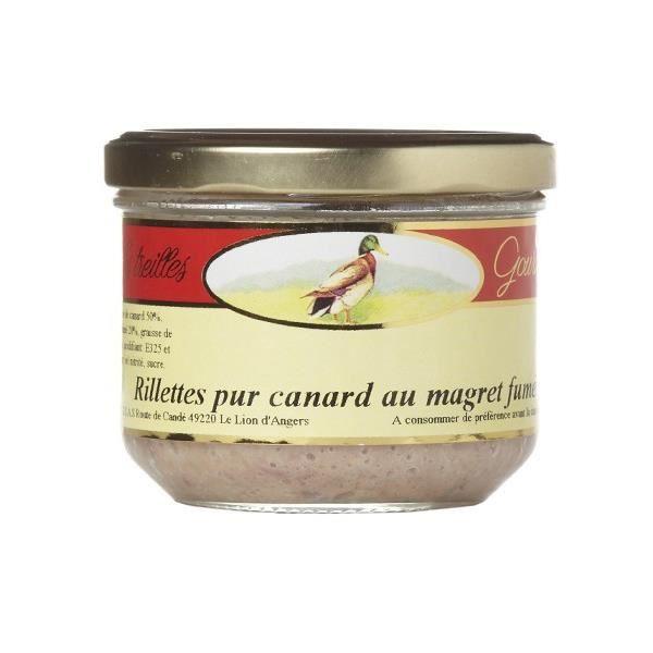 Rillette pur canard au magret fumé Treilles Gourmandes 90 gr