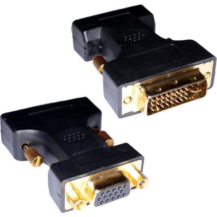 MHP ® DVI-I mâle vers VGA femelle adaptateur HD…
