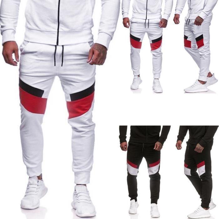 Pantalons de sport décontractés pour hommes Pantalons de jogging ajustés à patchwork Pantalons de survêtement de jogging