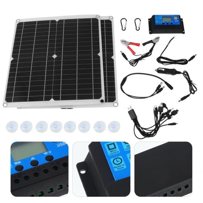 1 ensemble kit de panneau solaire en plein air 300W Kit kit photovoltaique - kit solaire genie thermique - climatique - chauffage