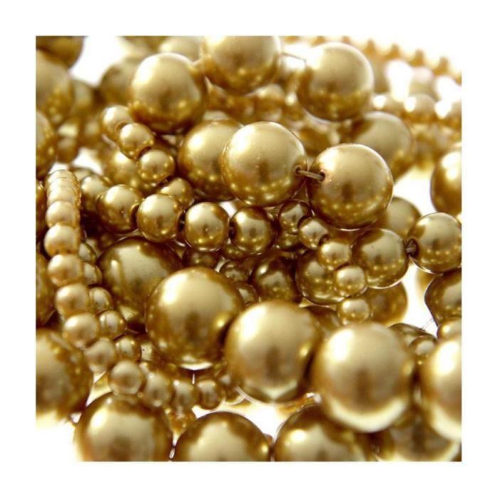 Perles nacrées 8 mm en verre de bohême couleurs vives lot de 20 Doré