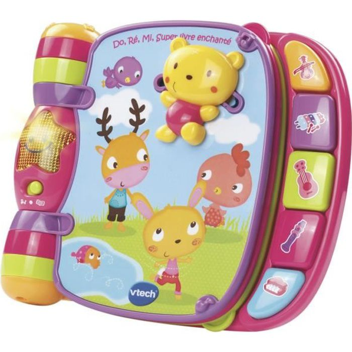 VTECH BABY - Do, Ré, Mi Super Livre Enchanté Rose