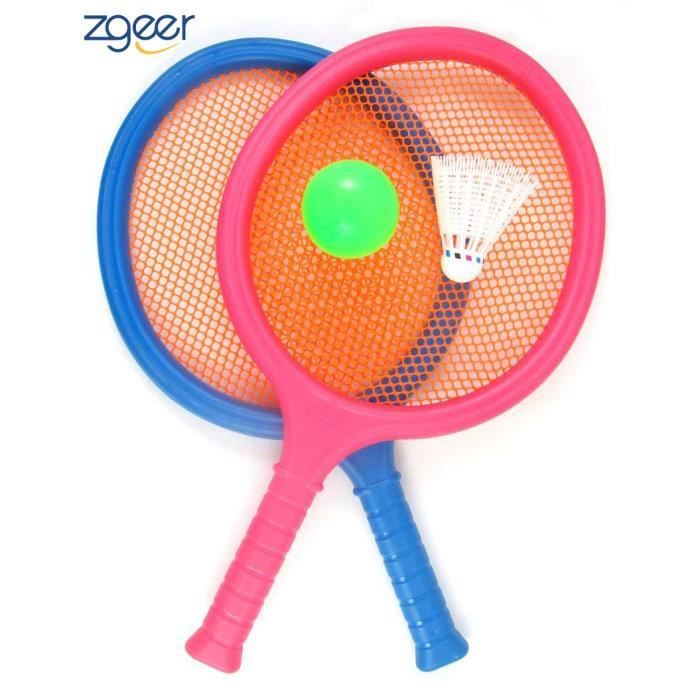Badminton pour Enfants, avec 2 Raquettes, Balle et Birdie