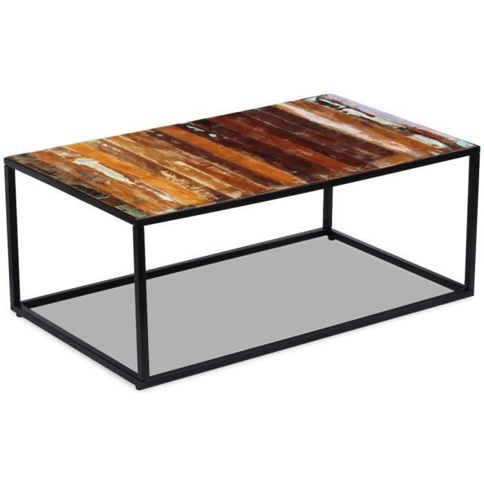 TABLE BASSE R142 Cette table basse en bois de recuperation deg