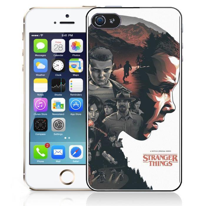 coque iphone 5 5s se stranger things fan art