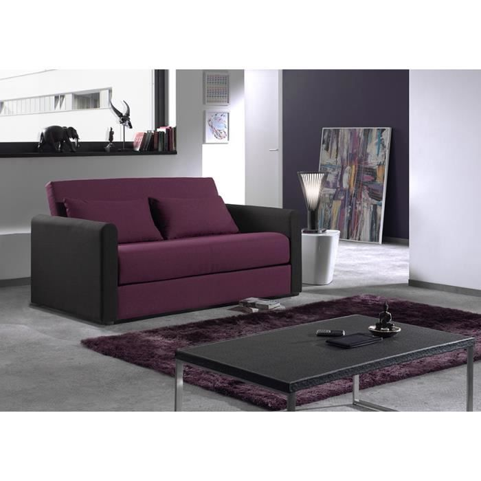 canap convertible fast bicolore tissu violet et noir. Black Bedroom Furniture Sets. Home Design Ideas