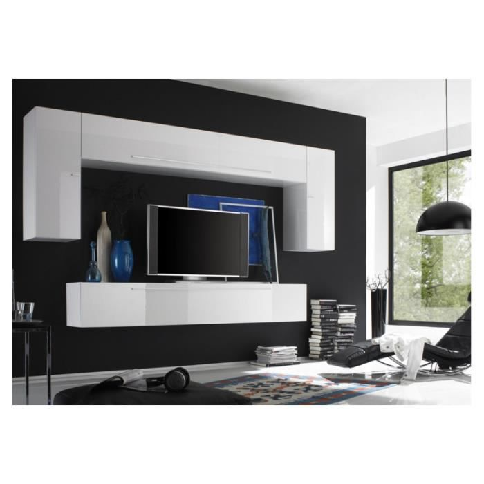 ensemble meuble tv mural laqu glossy b achat vente meuble tv ensemble meuble tv mural la. Black Bedroom Furniture Sets. Home Design Ideas