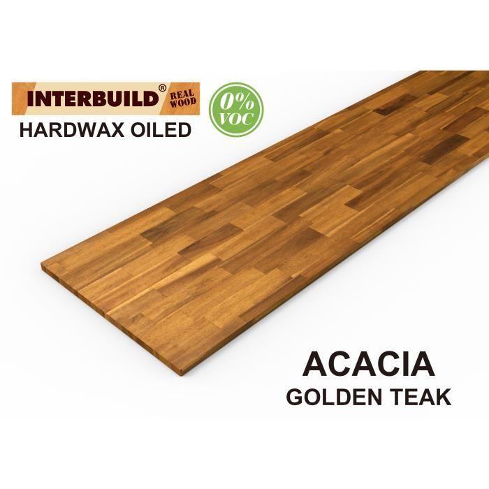 Plans De Travail En Bois Massif Acacia Interbuild 2200x635x26 Mm