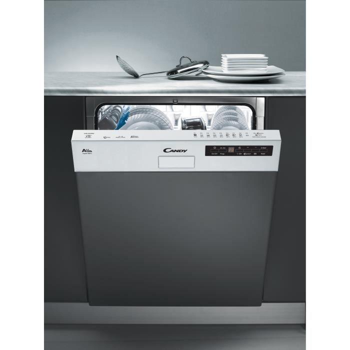 Candy Cds2d35w Lave Vaisselle Encastrable 13 Couverts 46 Db A Larg 60 Cm Bandeau Blanc