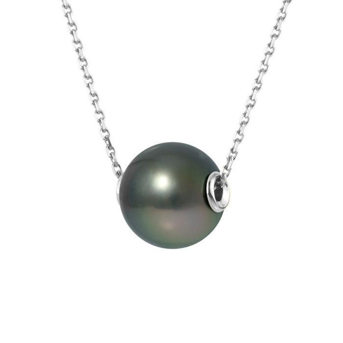 SAUTOIR ET COLLIER PERLINEA Collier Perle de Tahiti et Or Blanc 375°