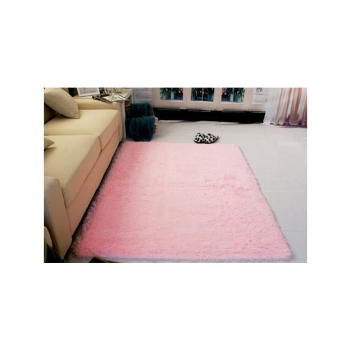 120 160cm tapis de salon tapis poil rose achat vente tapis cdiscount. Black Bedroom Furniture Sets. Home Design Ideas