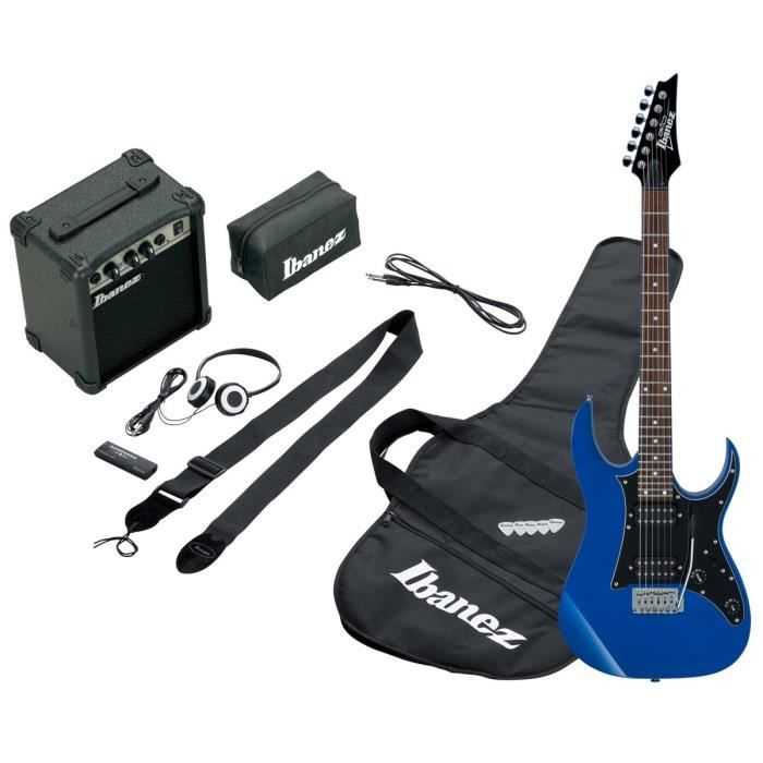 guitare electrique bleu pas cher achat vente guitare. Black Bedroom Furniture Sets. Home Design Ideas