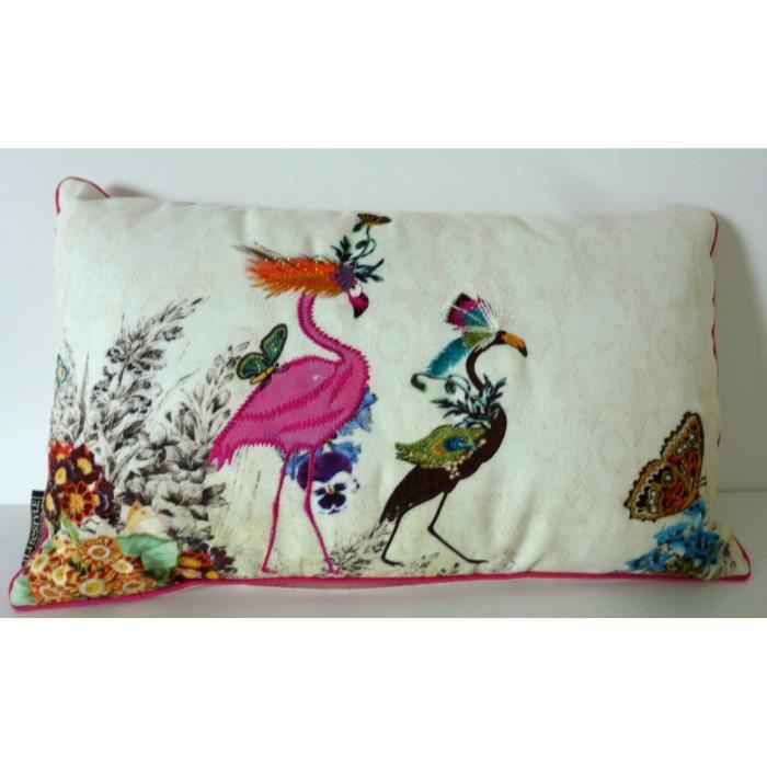 coussin flamant rose 50x30cm lifestyle achat vente coussin cdiscount. Black Bedroom Furniture Sets. Home Design Ideas