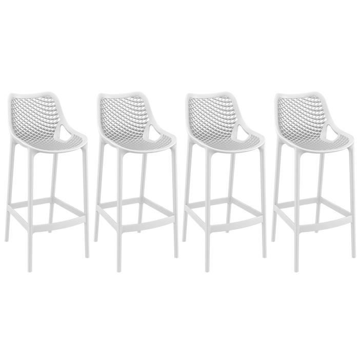 tabouret de bar design 65 cm blanc lot de 4 lucy achat. Black Bedroom Furniture Sets. Home Design Ideas